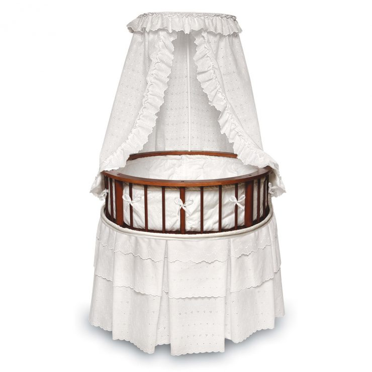 Round Bassinet by Badger Basket