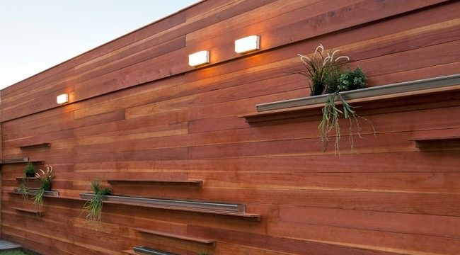 Wood Wall Fence