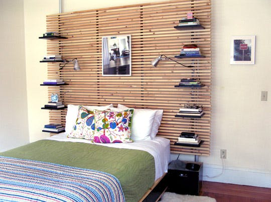 Headboard with Shelves