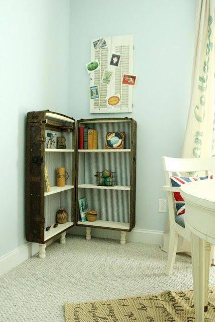 Open Suitecase Shelves