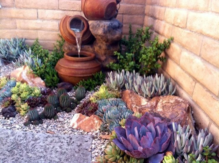 Clay Jugs Used as Water Feature