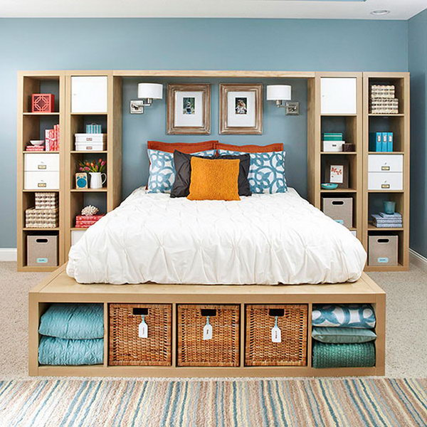 Bookshelves as Headboard