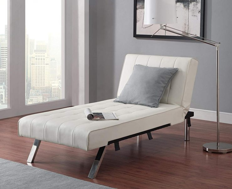 Emily Linen Chaise Lounge by DHP