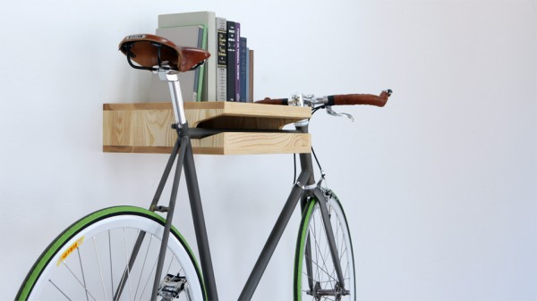 Bike on a Bookshelf