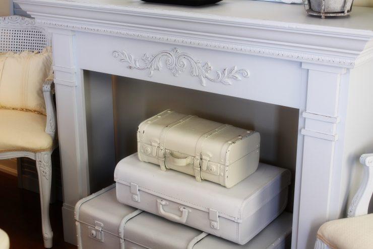 Suitcase Fireplace Decoration