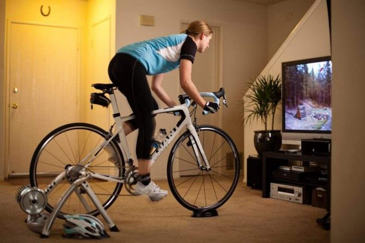 Bike with indoor cycling adapter