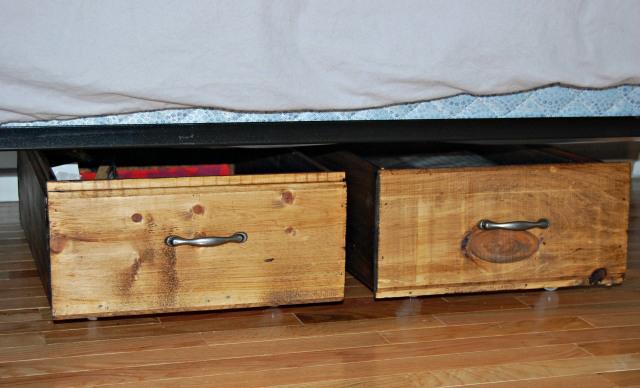 Under-Bed Storage Reused Drawers