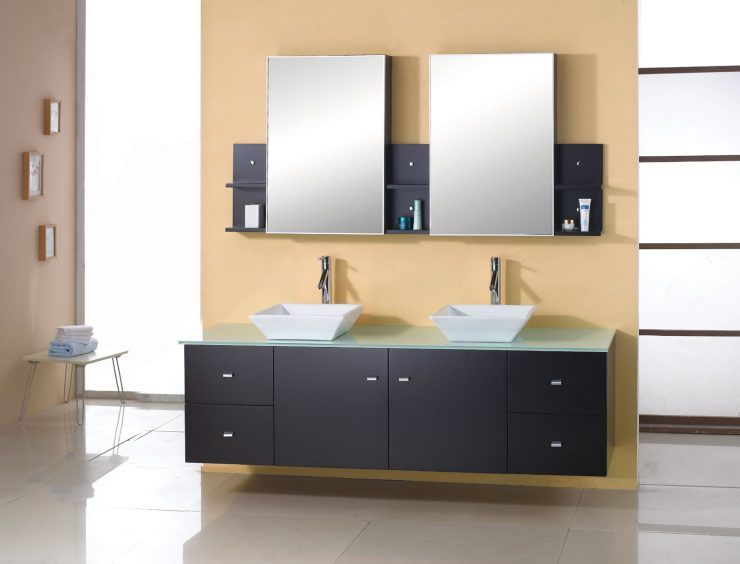 Wall Mounted Bathroom Vanity and Mirror