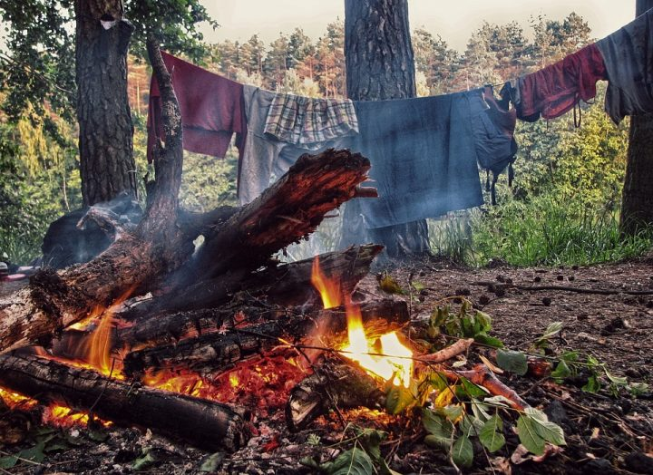 Alternatives to Clothes Wringer: Hang Up Near Fire
