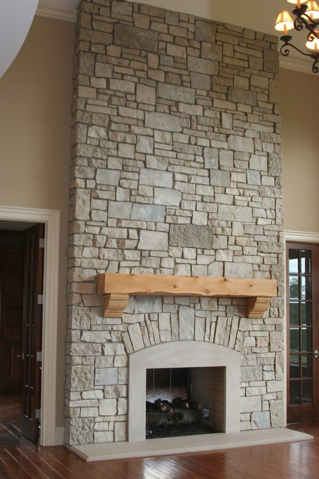 Ancient Brick Fireplace