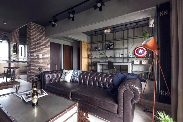 Bachelor Pad with Captain America Shield