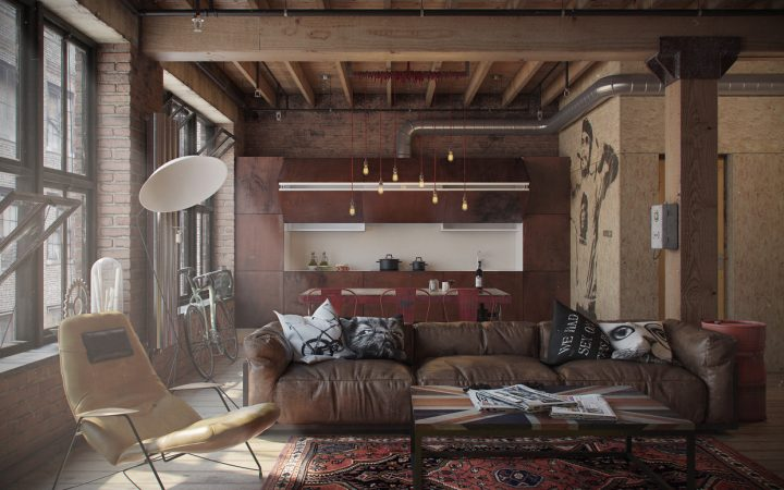 Industrial Style Bachelor Pad