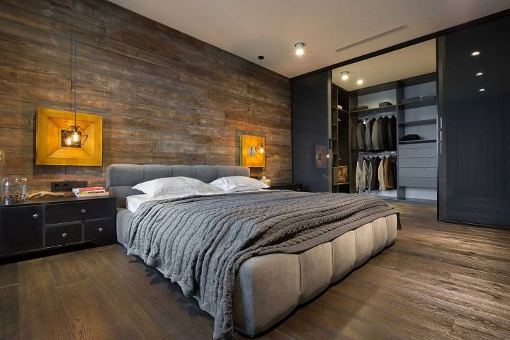 Bachelor Pad Bedroom with Walk-In Closet