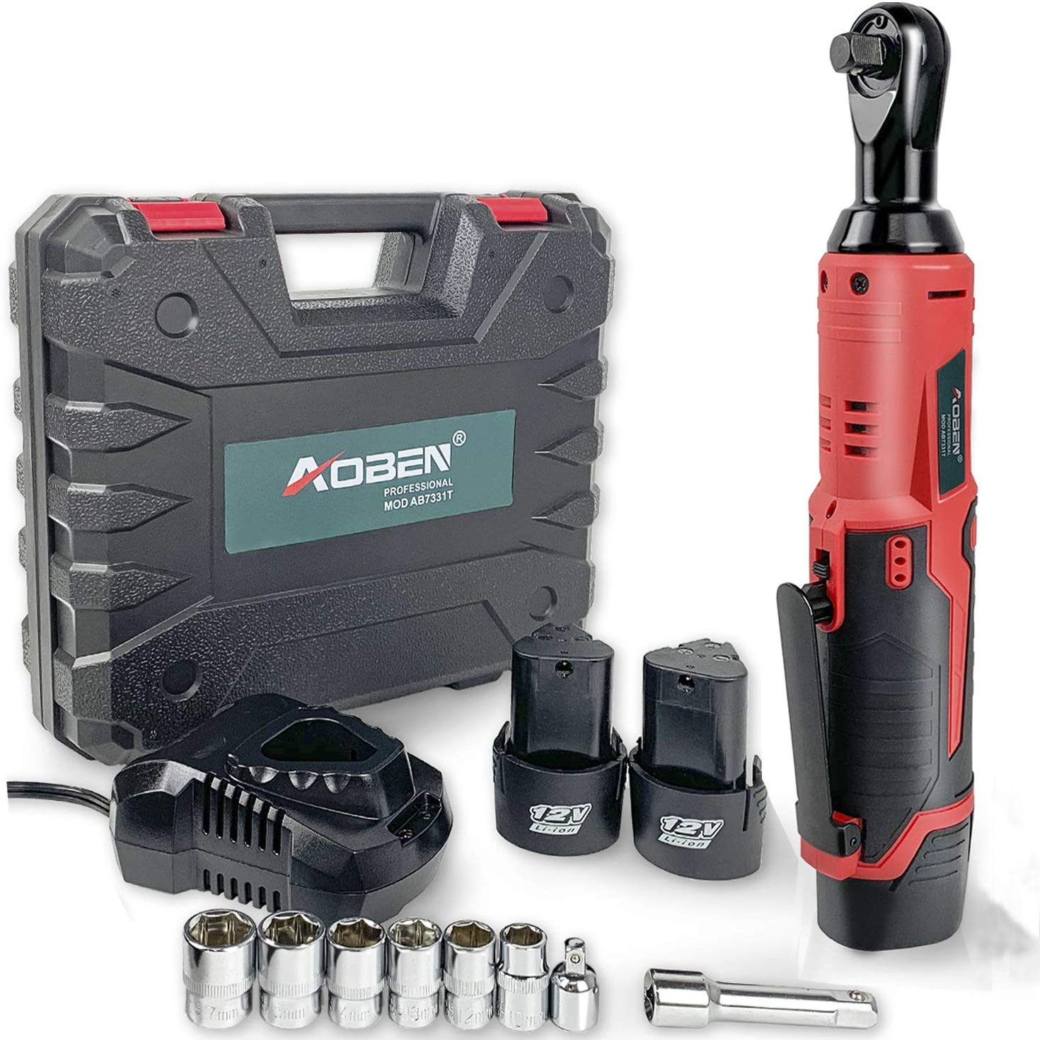 Best Battery Operated Ratchet: Adoben AB7331T Set