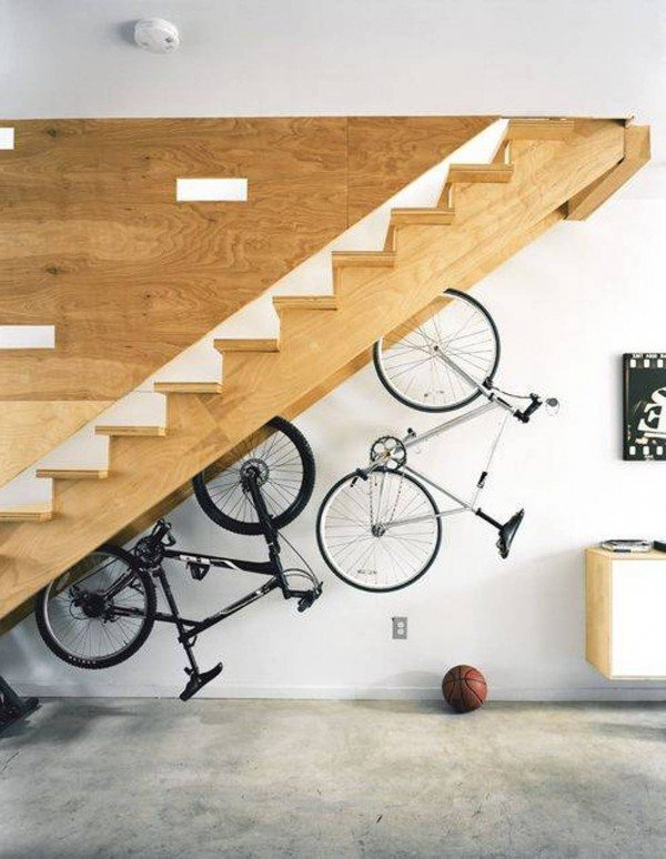 Bike Hanging Under Stairs