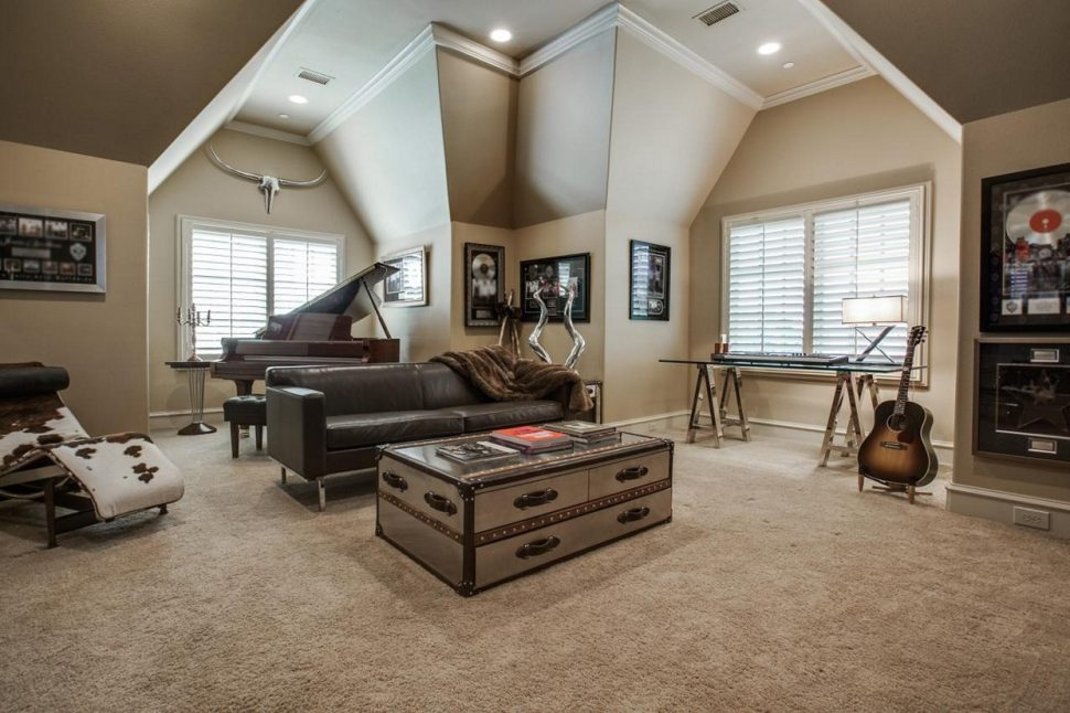Attic Music Room in a Scale of Greys