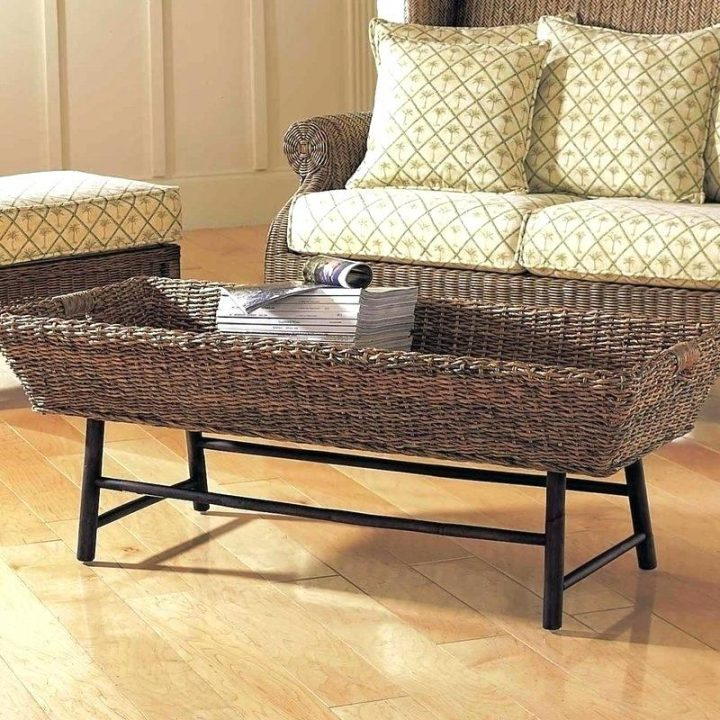 Mounted Basket as Coffee Table