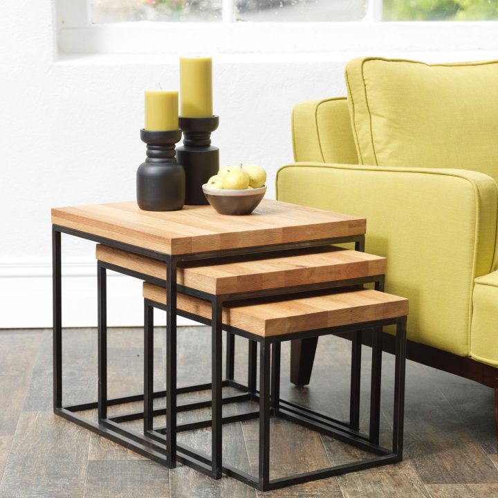 Nesting Tables next to a Sofa