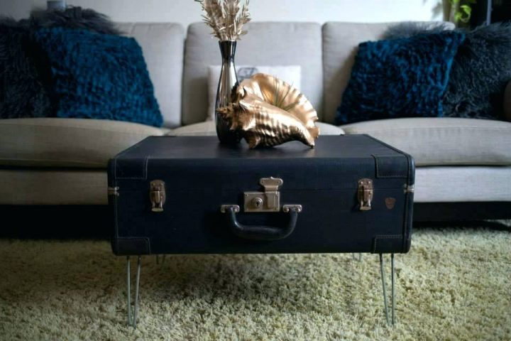 Vintage Suitcase used as Coffee Table
