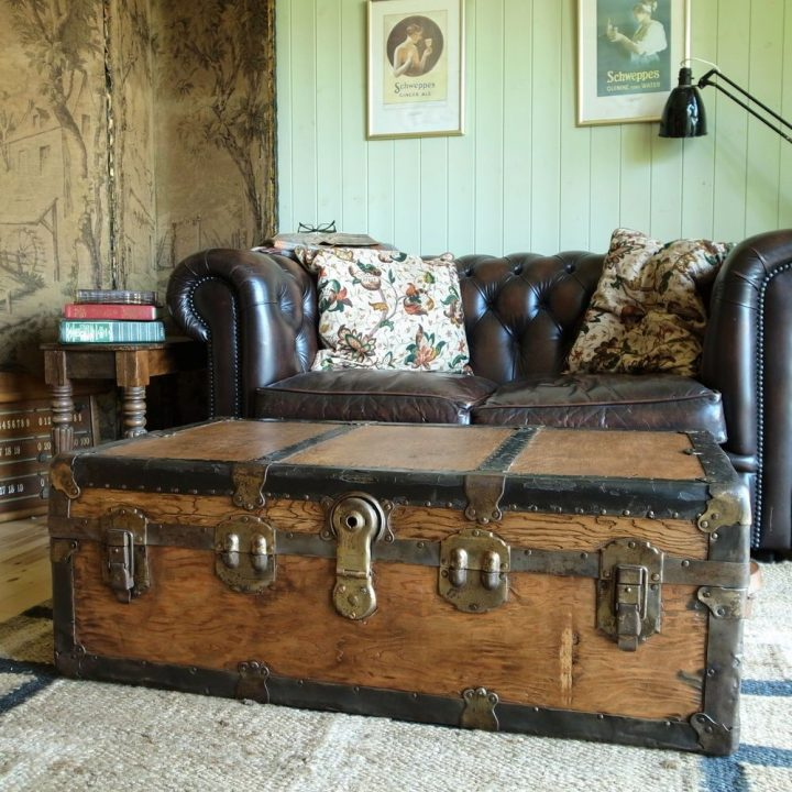 Trunk Used as Coffee Table