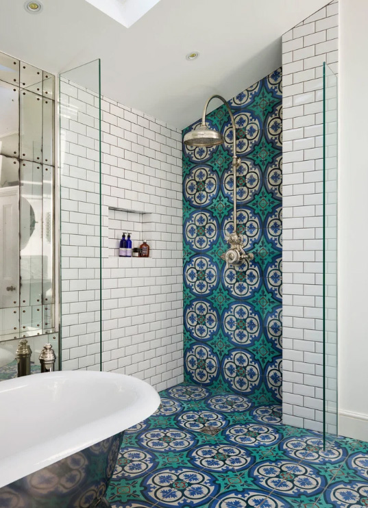 Colourful Patterned Tile