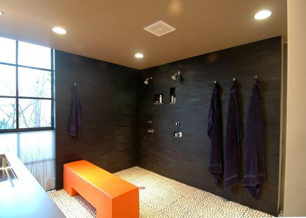 Doorless Shower in Black