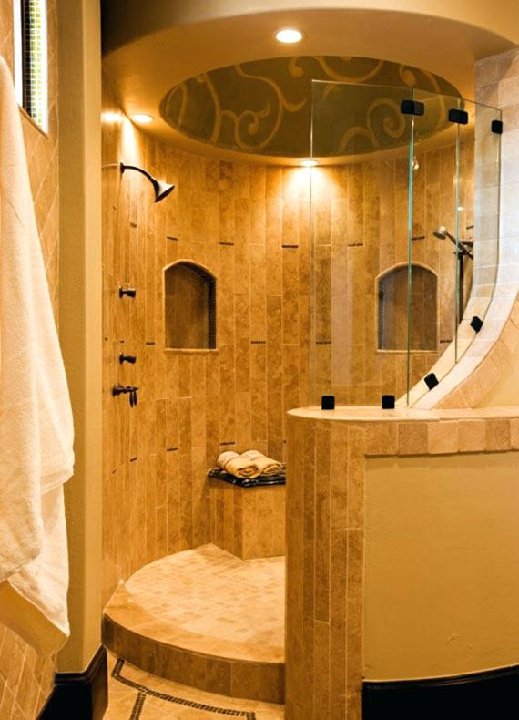 Circular Doorless Shower