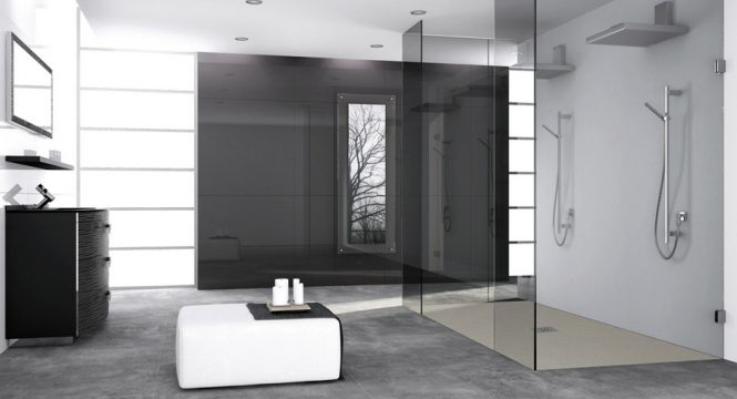 Modern Bathroom with Doorless Shower