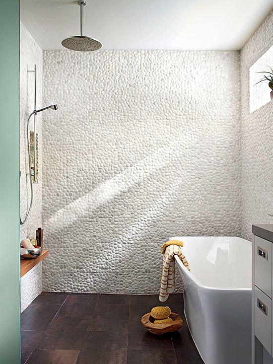 Doorless Shower Opposite of Tub