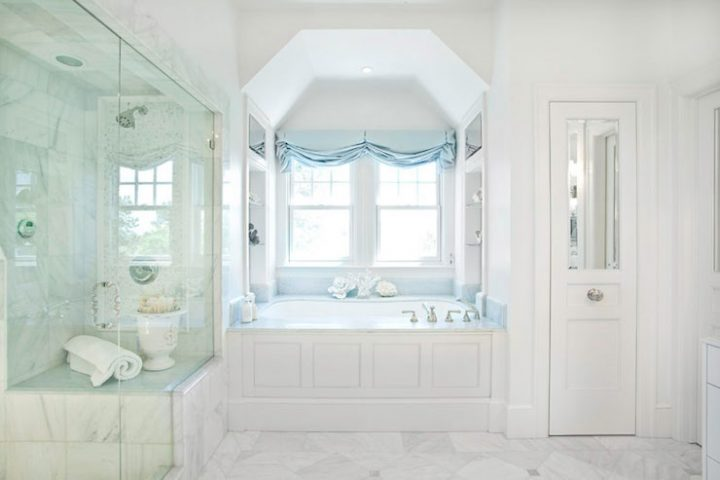 Tub Tucked into the Dormer Window Nook