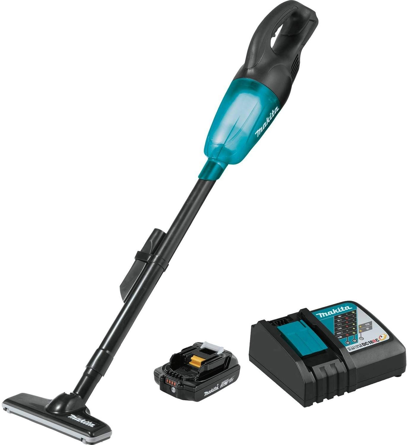 Best Electric Broom: Makita XLC02R1B
