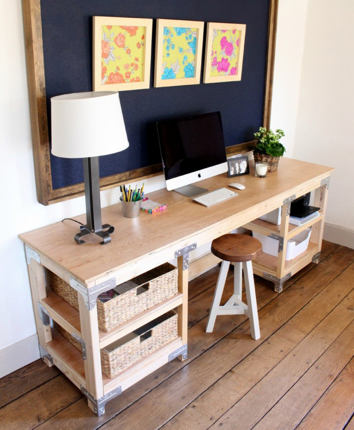 Workbench-Style DIY Desk