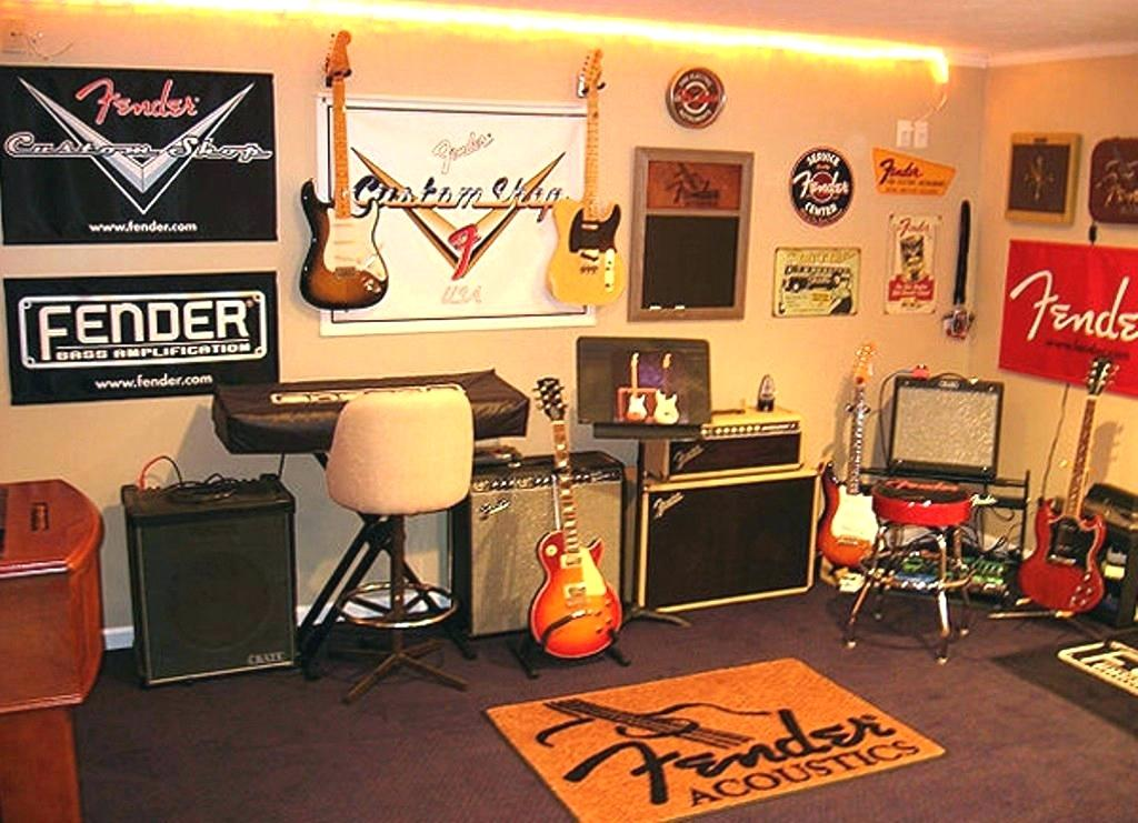 Band-room with Fender Paraphernalia
