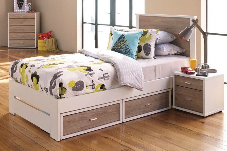 Bed with Drawers Kids