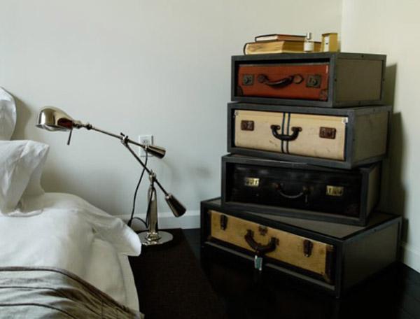 Suitcase Stacked Shelf