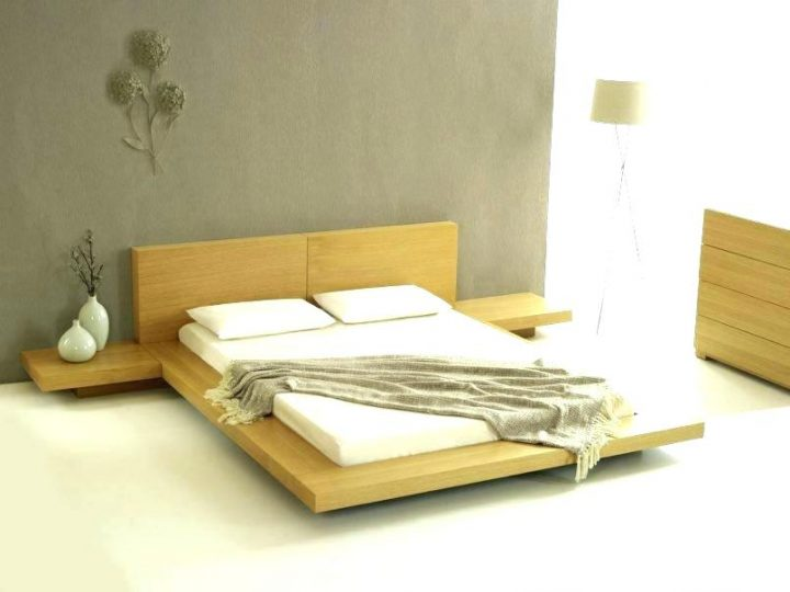Japanese Bedroom with Low Bed