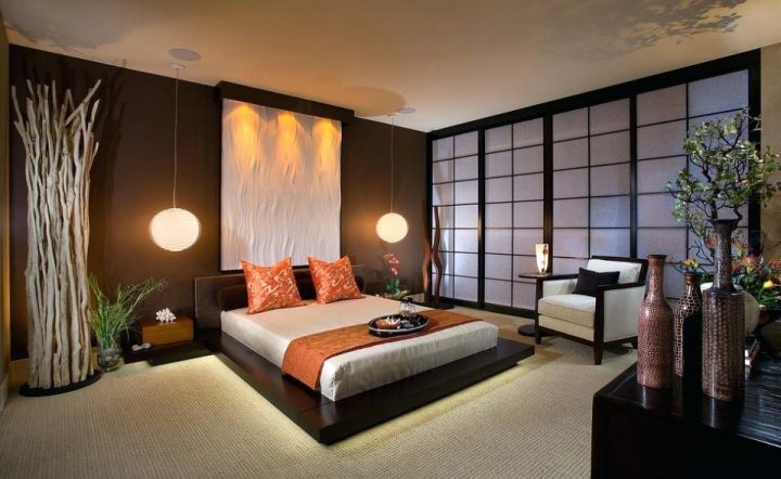Japanese Bedroom with Tatami Floor