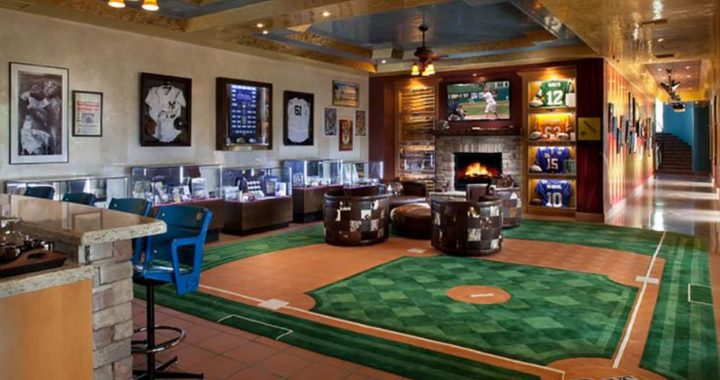 Man Cave for the Committed Baseball Fan
