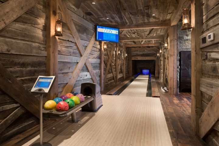 Man Cave with Bowling Alley