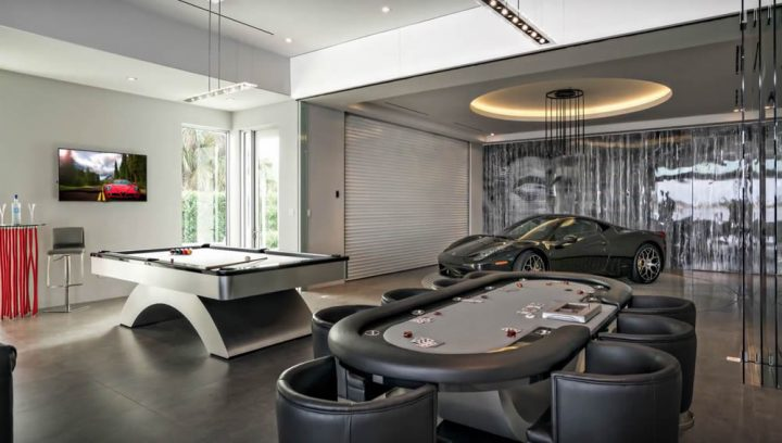 Man Cave with Poker Table