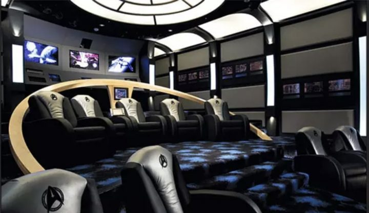 Man Cave in Style of Starship Enterprise's Bridge