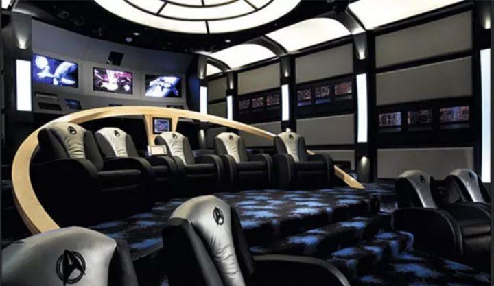 Man Cave in Style of Starship Enterprise's Bridge