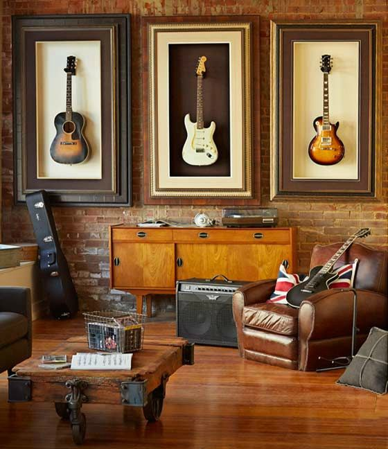 Man Cave of a Brit Rock Fan