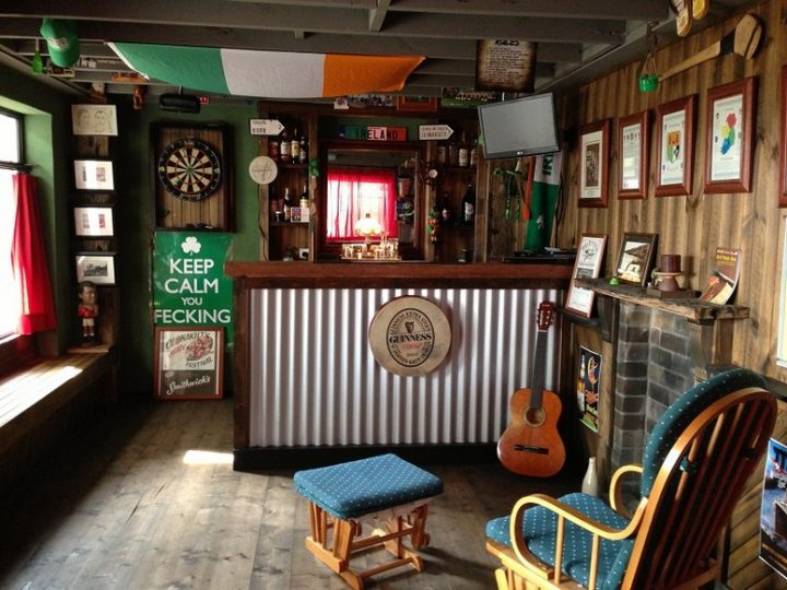 Man Cave in Style of an Irish Pub