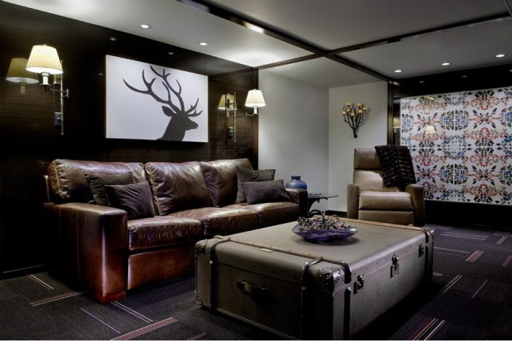 Man Cave as Minimalist Hunting Cabin