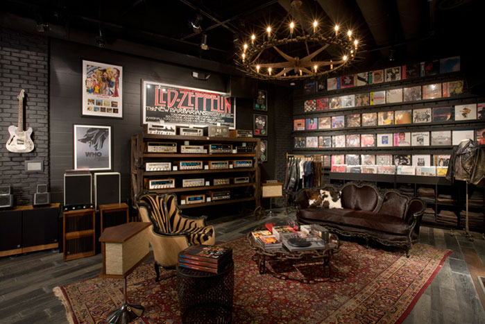 Man Cave Looking Like a Record Store