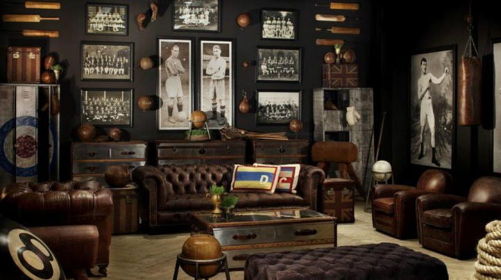 Man Cave as Tribute to Retro Sports