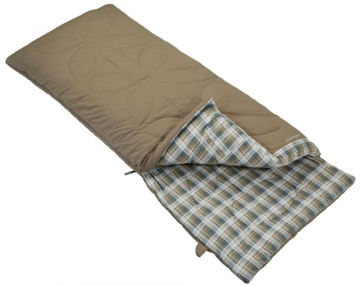 Checkered Sleeping Bag as Matress Alternative