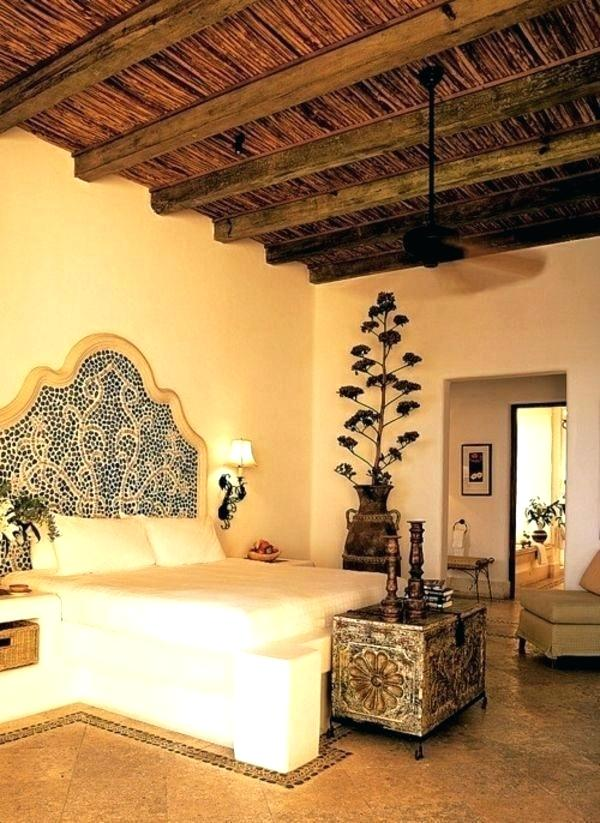 Moroccan Bedroom Decor: Arched, Tiled Headboard