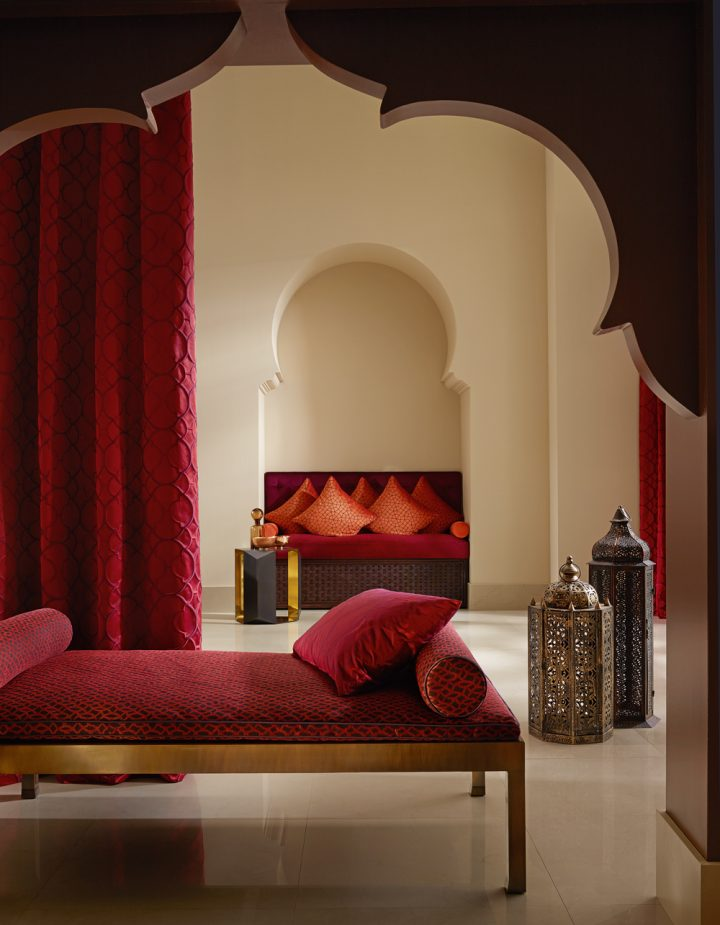 Moroccan Bedroom Decor: Room With Both Arch and Niche that Frame the Overall Design